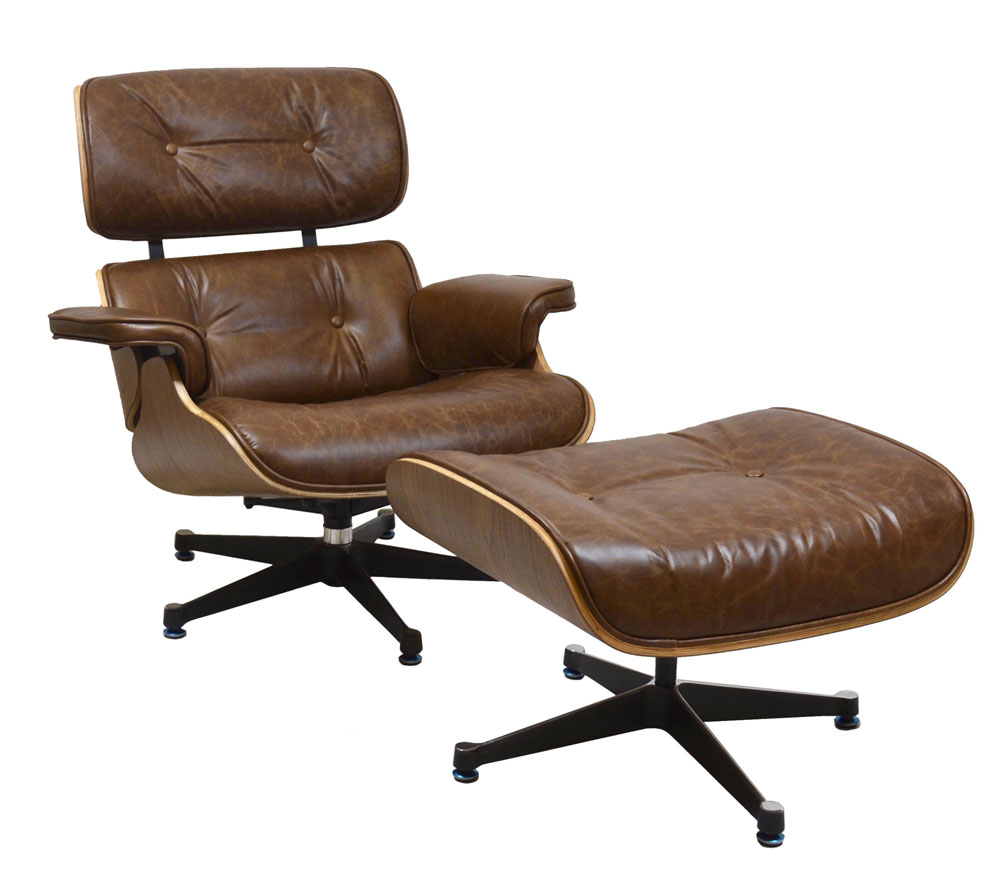 Charles Eames Style Reproduction Lounge Chair & Ottoman by
