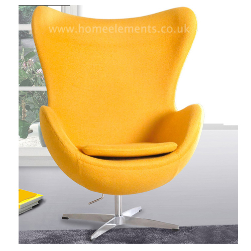 egg chair yellow reproduction by home elements