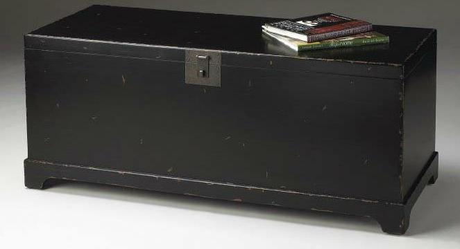 Exceptionnel Thumbnail 1 Large Trunk/Coffee Table Black ...