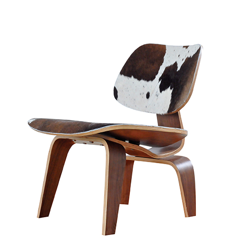 home furniture eames dining chair cowhide leather reproduction
