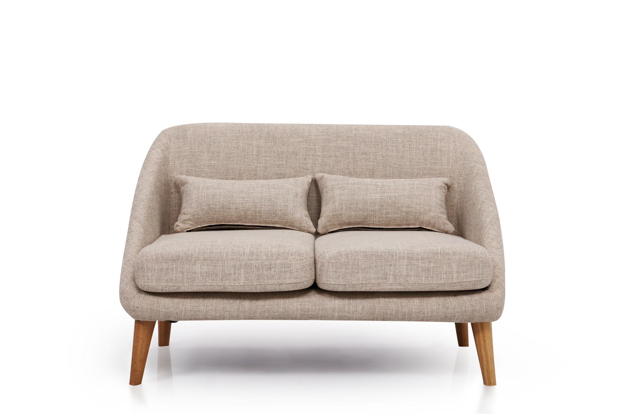 Peachy Grey Fabric Two Seater Sofa Ideal For Small Space Living Download Free Architecture Designs Momecebritishbridgeorg