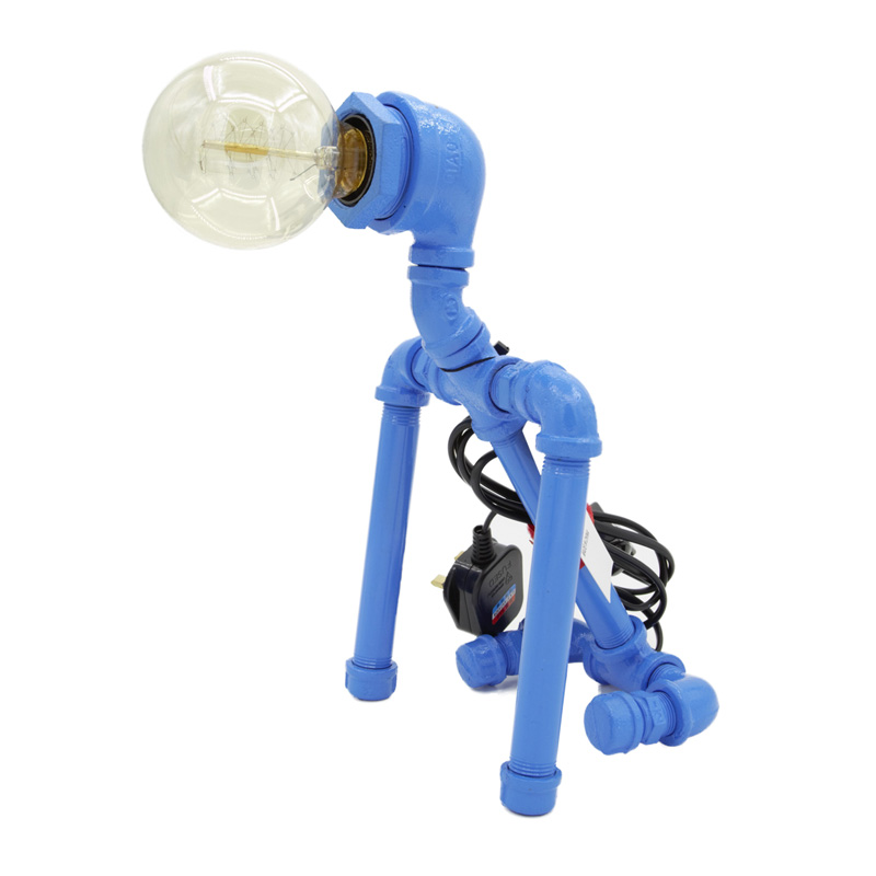 Robot Dog Table Lamp Blue
