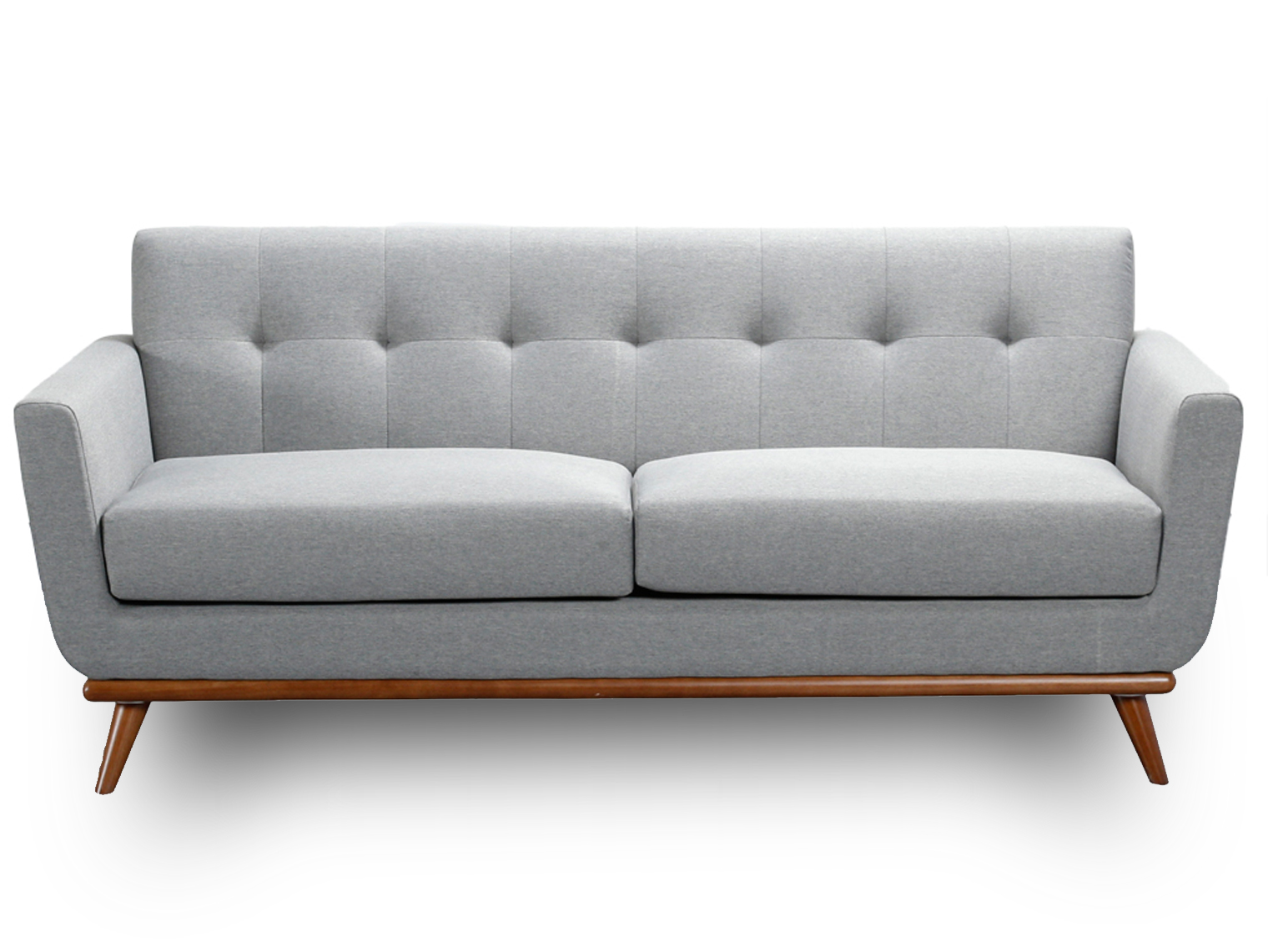 Modern Scandinavian Style Grey 2 Seater Sofa 3 Choice of Colours by ...