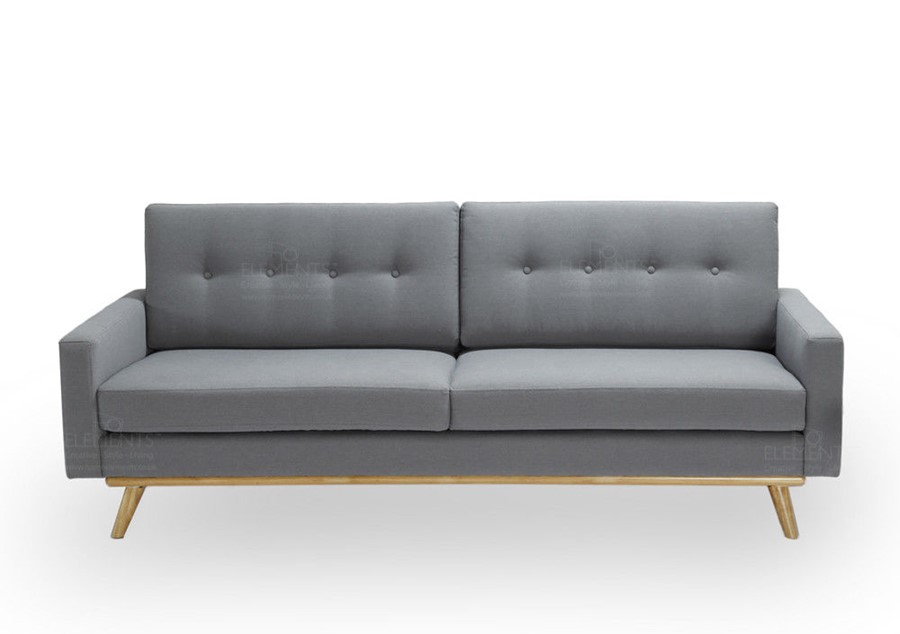 Scandinavian Style Grey 3 Seater Sofa 3 Choice of Colours