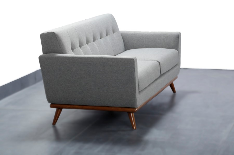 Modern Scandinavian Style Grey 2 Seater Sofa 3 Choice of Colours