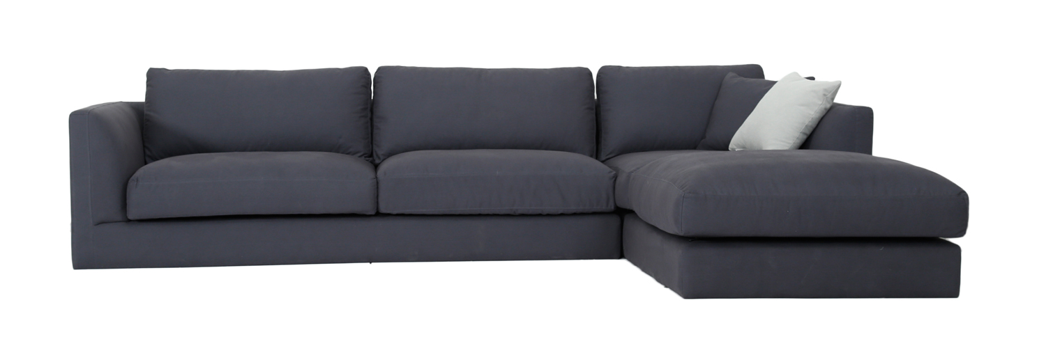 Large Right Corner Sofa Dark Grey 4 Seater Sofa The New Urban Morden