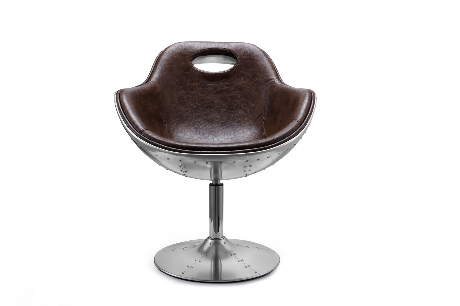 Aviation Bonded Leather Swivel Chair