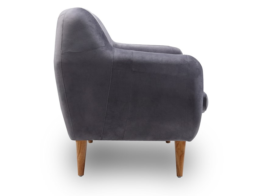2 Seater Velvet  Sofa in charcoal  grey with buttons scandinavian style
