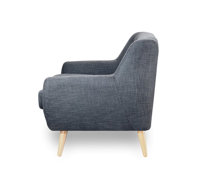 2 Seater Sofa in charcoal grey scandinavian style