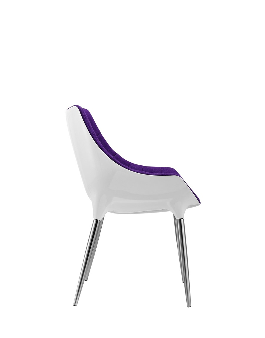 Dining Chair Purple Wool White Shell Kitchen/Dining/Office Chair