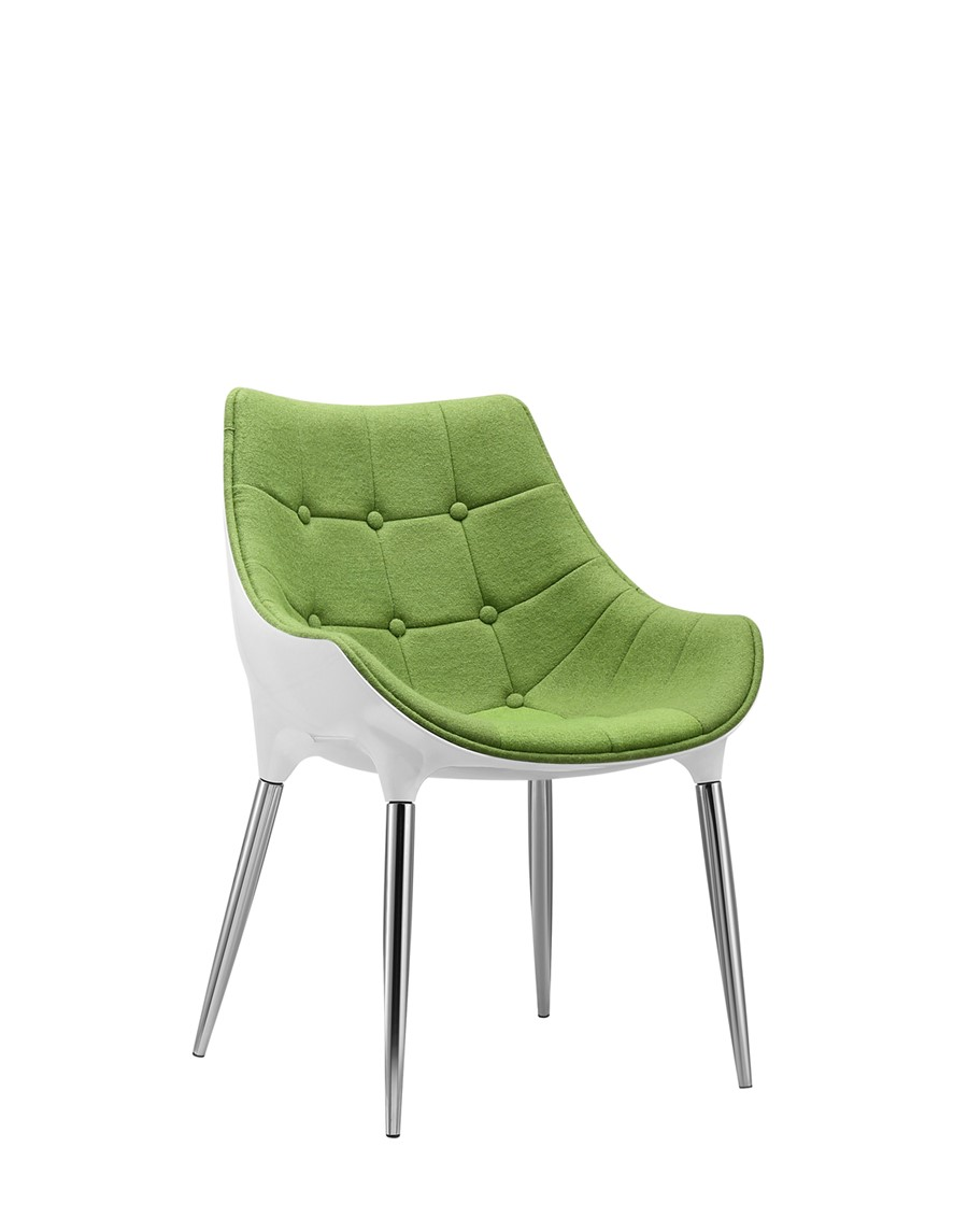 Dining Chair Green Wool White Shell Kitchen/Dining/Office Chair