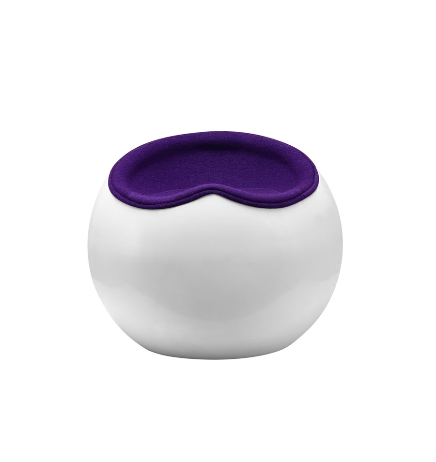 Apple Stool Purple Wool Fibreglass Lounge/Kitchen/Bedroom