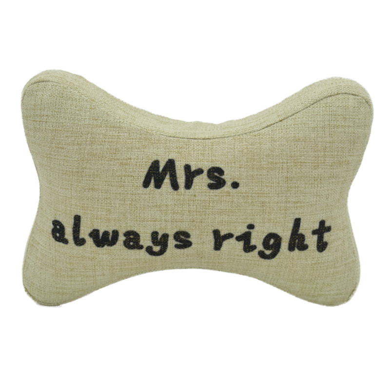 Mr Right&Mrs Always Right Neck Support Cushion