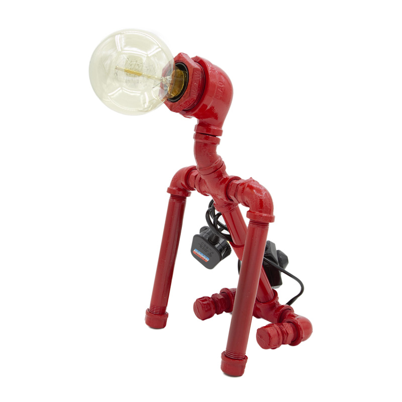 Robot Dog Table Lamp Red