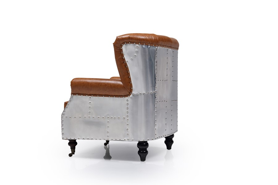 Chesterfield Aviation Armchair Brown Vintage PU Leather